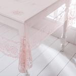 Alessa Örme Masa Örtüsü 150x150 Cm Pembe