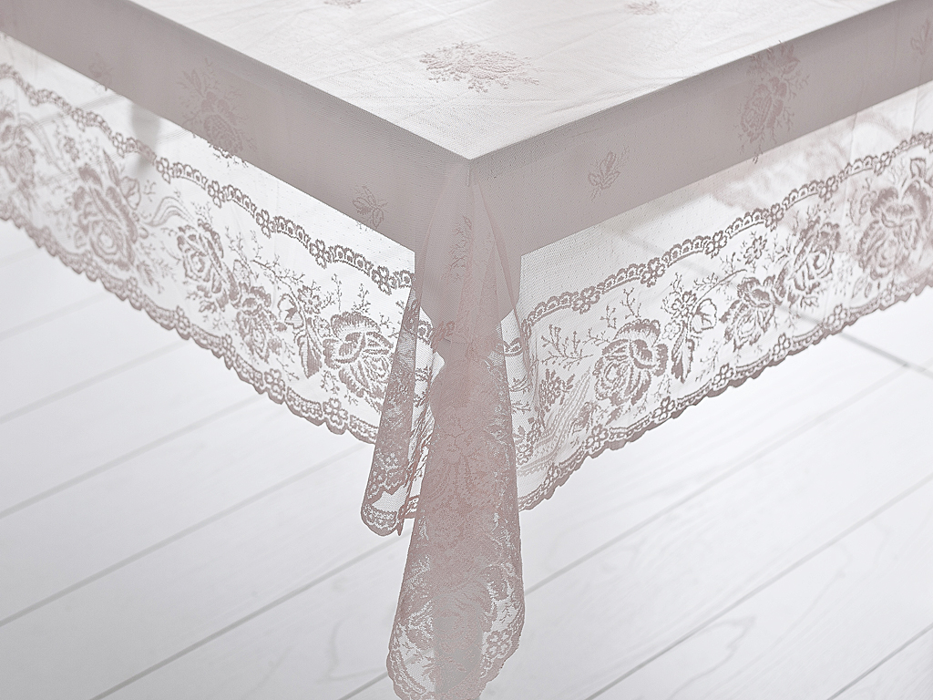 Alessa Örme Masa Örtüsü 150x220 Cm Pembe