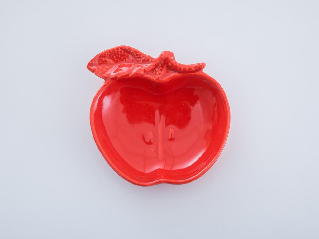 Apple Stoneware Tabak 9,3x1,1x2,9 Cm Kırmızı