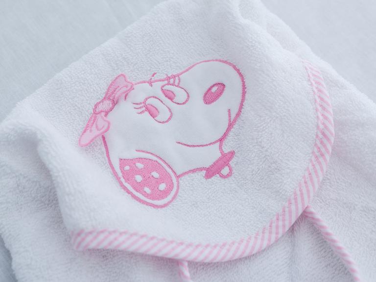 Belle Nakışlı Bebe Panço 0-1 Yaş Pembe