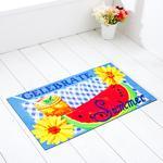 Celebrate Summer Baskılı Kapı Önü Paspası 45x75 Cm Mavi