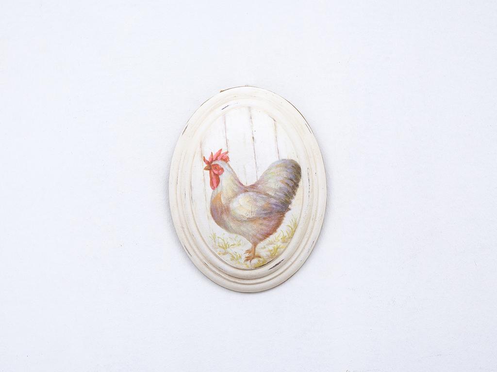 Chicken Tablo 17,0x22,5x3,8 Cm Bej