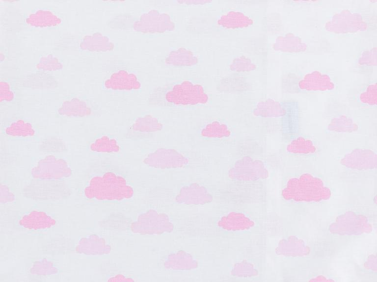 Clouds Pamuklu Bebe Yastık Kılıfı 35x45 Cm Pembe