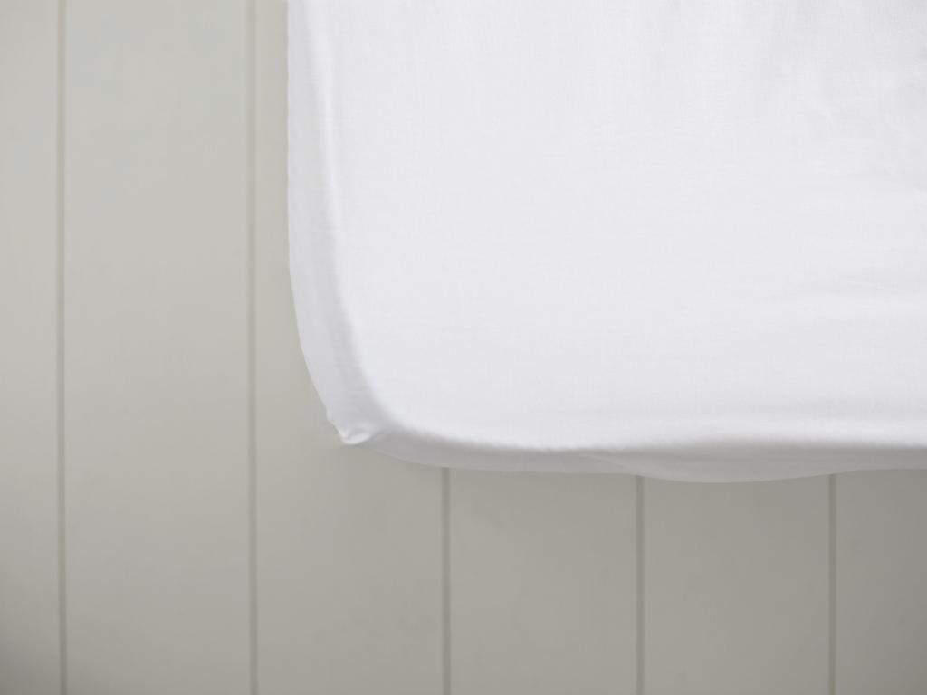 Düz Pamuklu Tek Kişilik Lastikli Çarşaf 100x200 Cm Kırık Beyaz