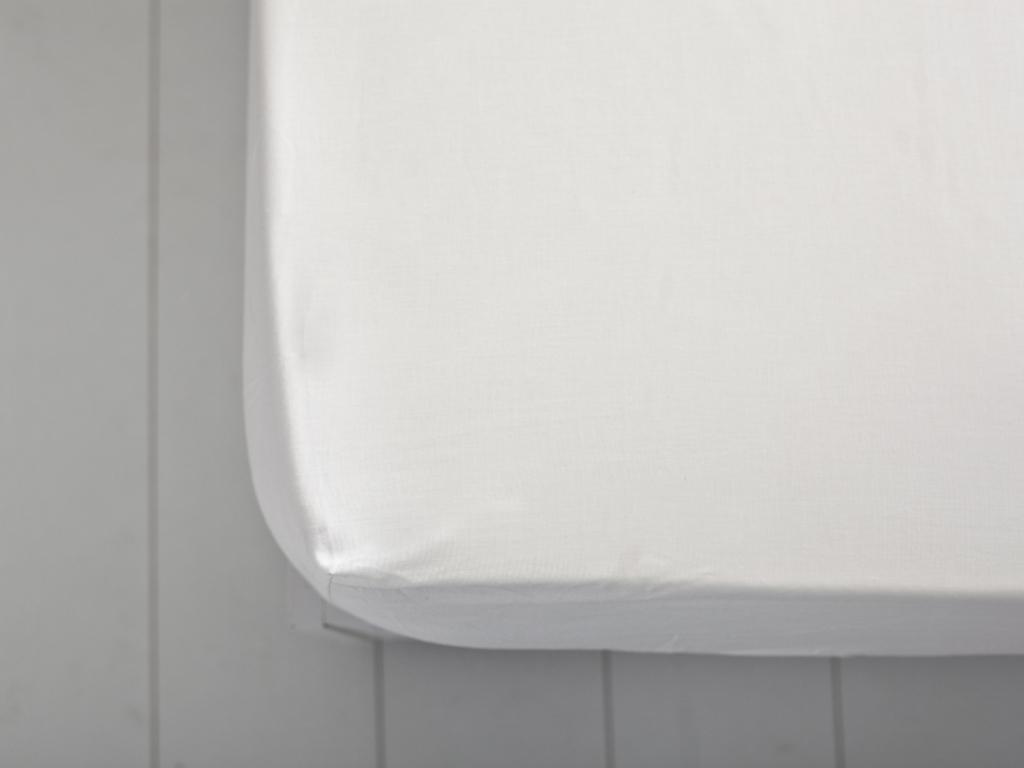 Düz 2 Pamuklu Ara Ebat Lastıklı Çarşaf 140x200 Cm Beyaz