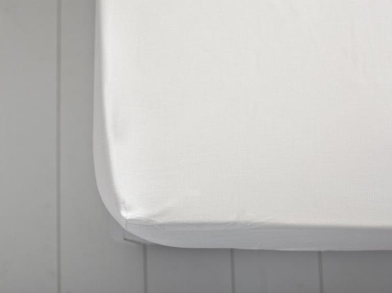 Düz Pamuklu Çift Kişilik Lastikli Çarşaf 160x200 Cm Beyaz