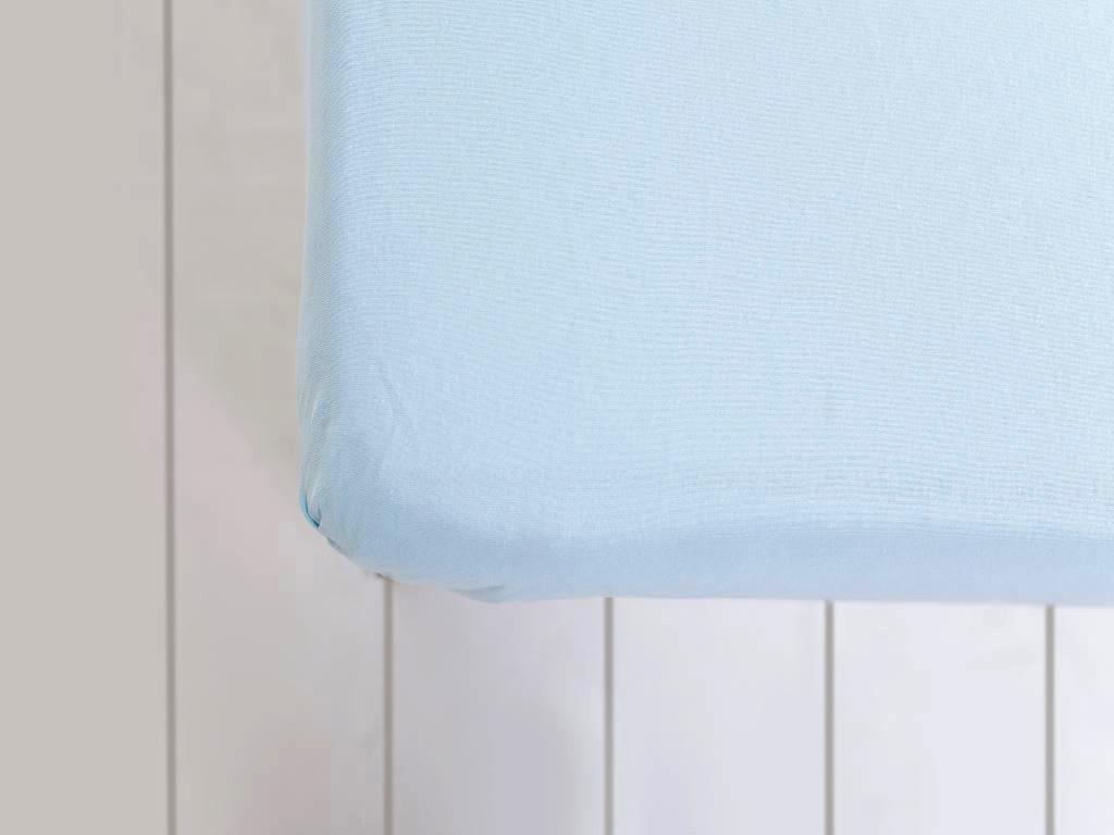 Düz Penye Çift Kişilik Lastıklı Çarşaf Tkm 160x200 Cm Mavi