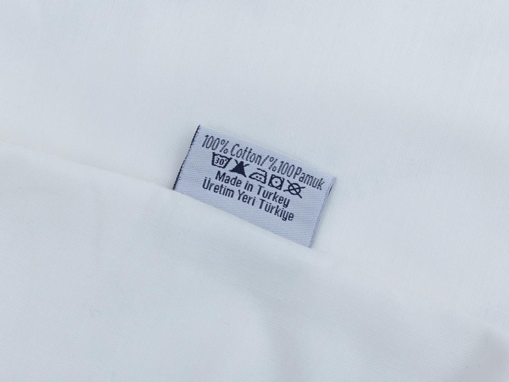 Düz Pamuk Saten 2'li Yastık Kılıfı 50x70 Cm Kırık Beyaz