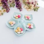Flower Stoneware 5 Bölmeli Çerezlık 20,0x19,0x3,5 Cm Mint