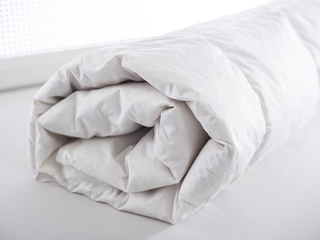 Gaynor Kaz Tüyü Tek Kişilik Yorgan 155x215 Cm Beyaz