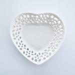 Heart Stoneware Tabak 13x12x2 Cm Krem