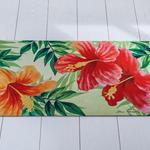 Hibiscus Baskılı Kapı Önü Paspası 45x75 Cm Pembe