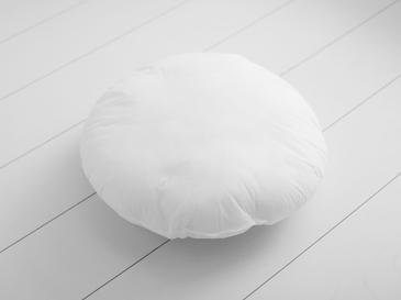 Yuvarlak Kırlent Yastığı 42 Cm Beyaz