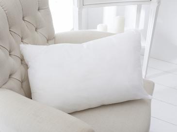 Silikonlu Kırlent Kılıfı Yastık 35x55 Cm Beyaz