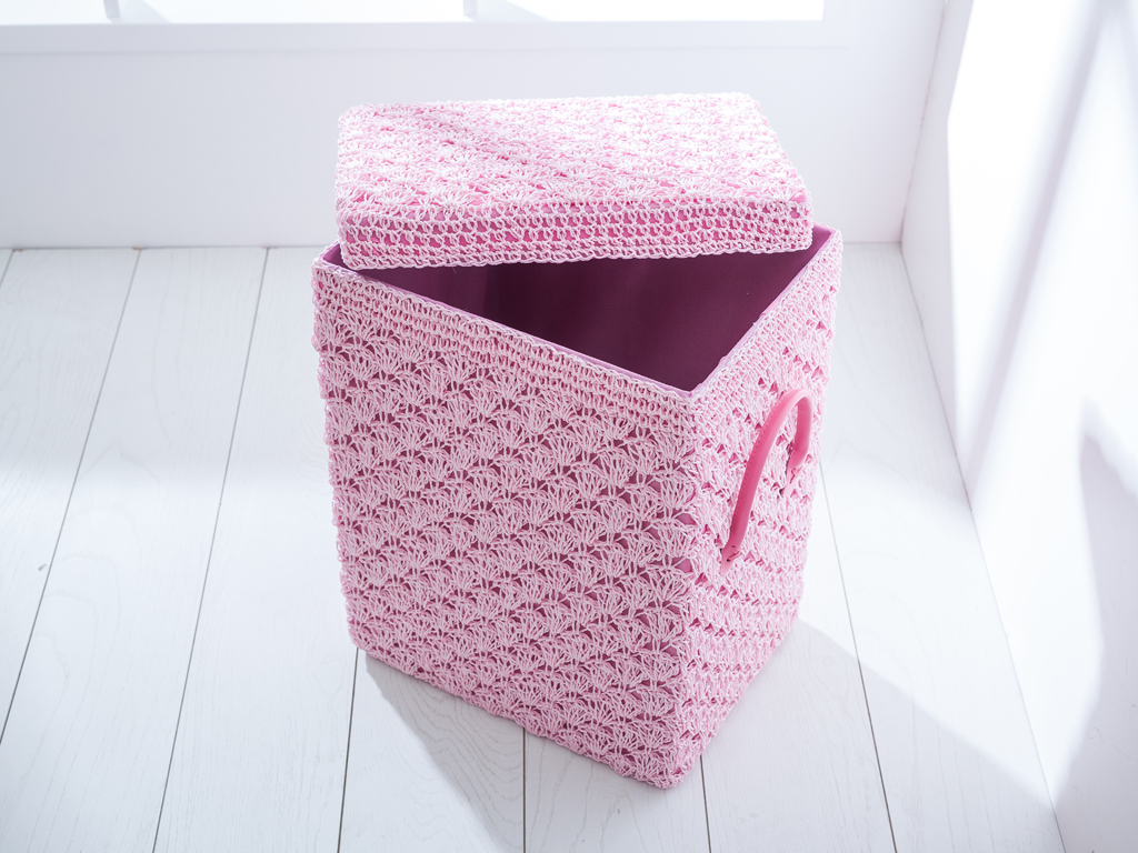 Lady Polyester Çamaşır Sepetı 37x29x45 Cm Pembe