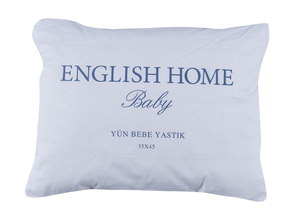 Layna Yün Bebe Yastık 35x45 Cm Beyaz