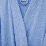 Plain Pamuklu Erkek Bornoz Xl Açık Mavi
