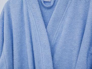 Plain Pamuklu Erkek Bornoz L Açık Mavi