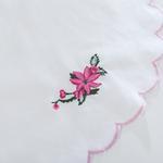 Poinsettia Nakışlı Amerikan Servis 33x48 Cm Pembe