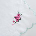 Poinsettia Nakışlı Runner 33x90 Cm Mint