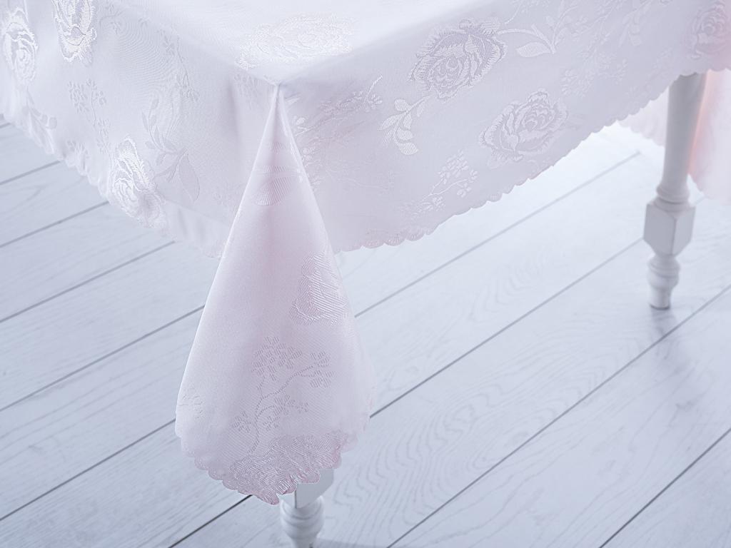 Rosary Polyester Masa Örtüsü 160x200 Cm Pembe