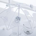 Rosa Ferforje Şemsiyeli Sosluk 25,5x21,5x29,5 Cm Beyaz