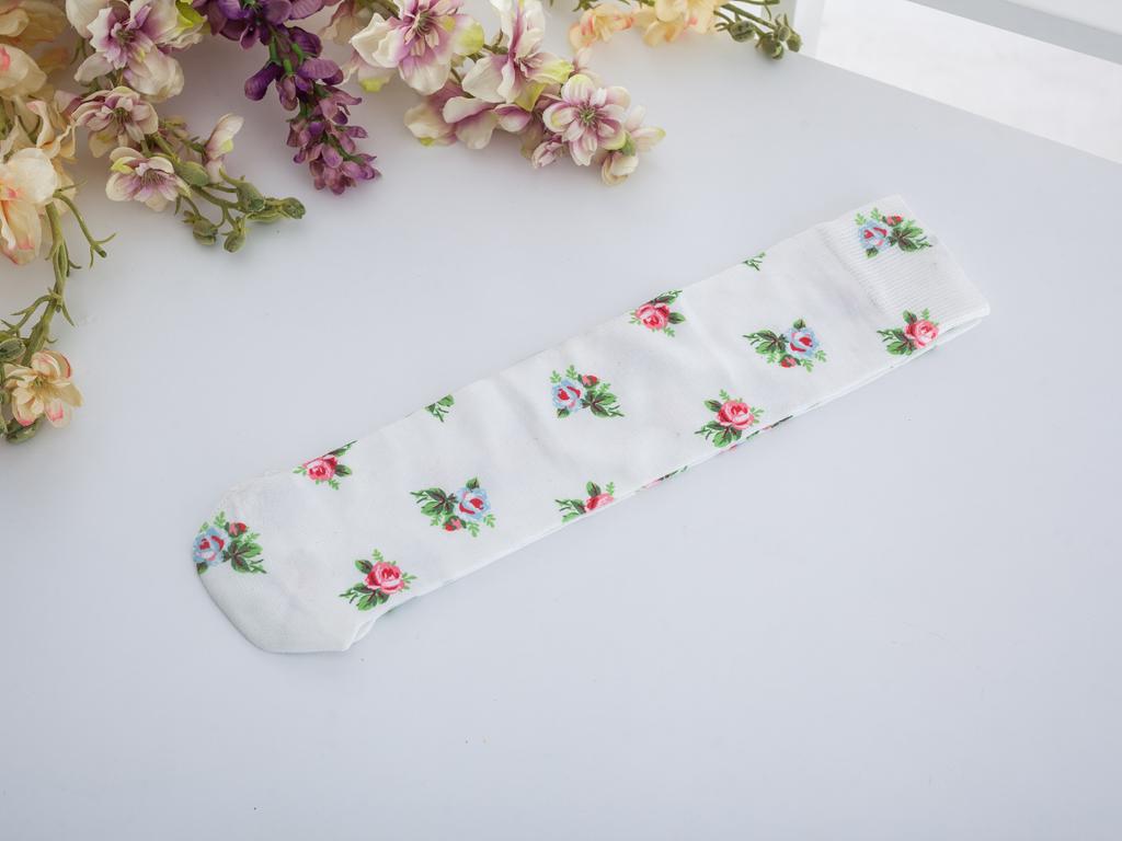 Sabrin Dijital Baskı Soket Çorap Çorap 35-39 Pembe