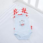 Sailers Pamuklu 3'lü Bebe Body 6-9 Ay Mavi
