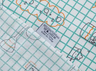 Science Kombin Pamuklu Tek Kişilik Çocuk Çarşaf 160x240 Cm Turuncu