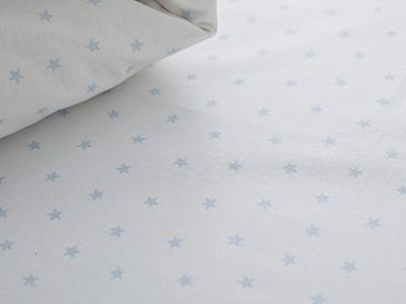 Stars Pamuklu Bebe Lastikli Çarşaf 70x140 Cm Mavi