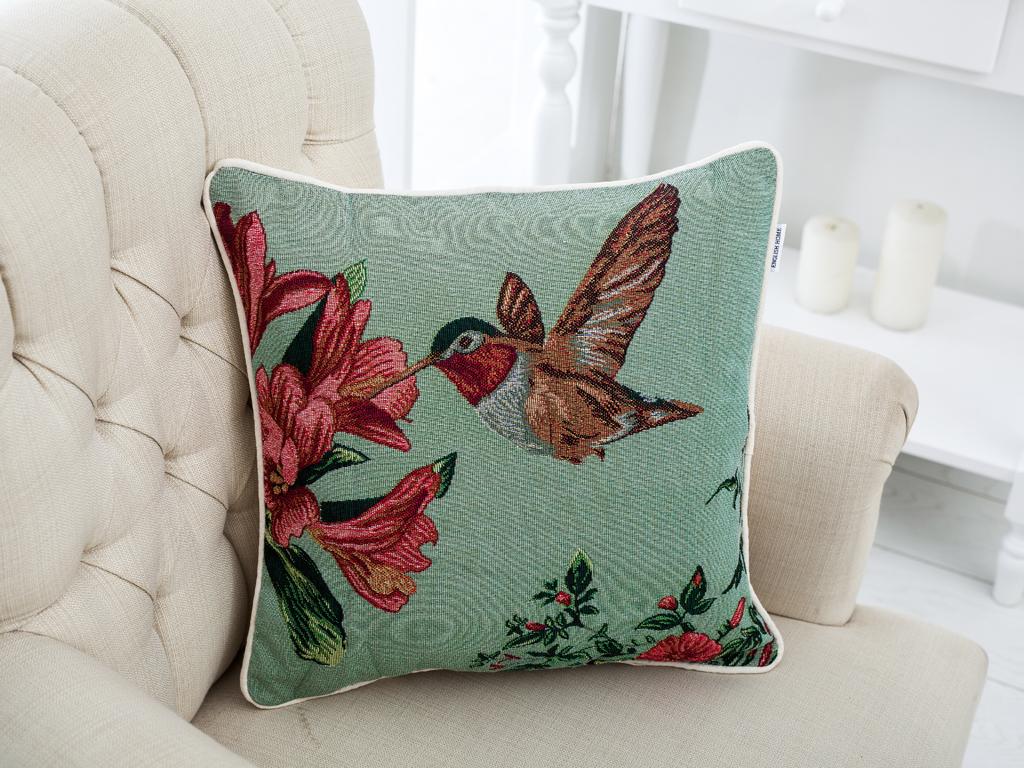 Tropic Bird Goblen Kırlent 40x40 Açık Yeşil