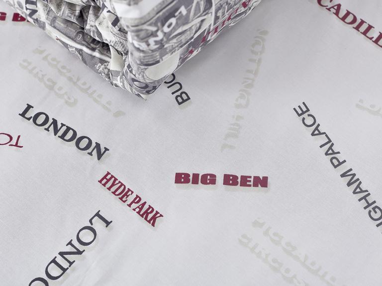 Vintage London Pamuklu King Size Çarşaf 260x280 Cm Bej