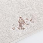 Birdly Nakışlı El Havlusu 30x45 Cm Açık Bej