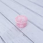 Daisy Tığ İşi Tığ İşi Yuvarlak Kapaklı Saklama Kutusu 9,0x6,5 Cm Pembe