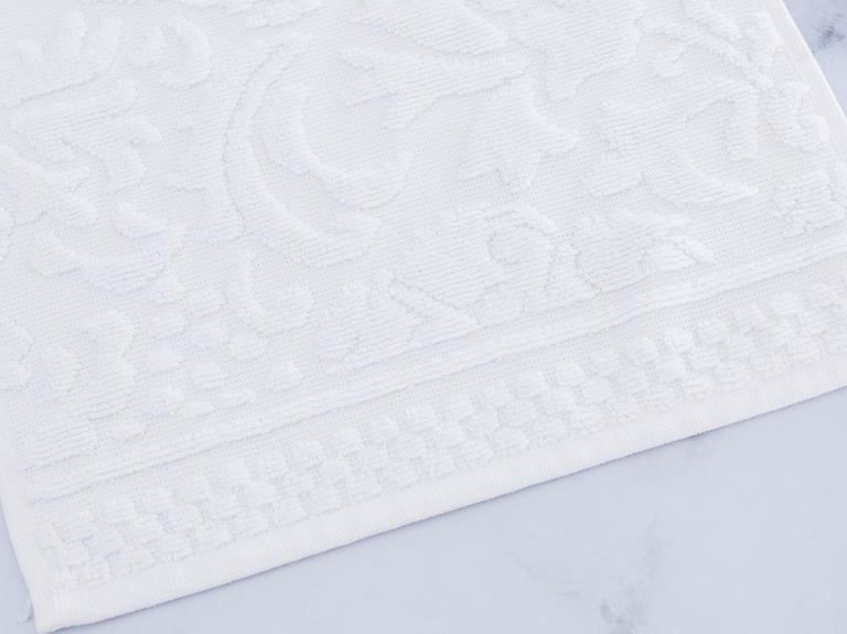 Diamon Jakarlı El Havlusu 30x45 Cm Beyaz