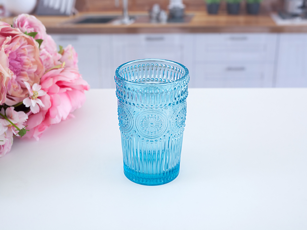 Erica Cam Su Bardağı 12,8x8,0x6,5 Cm Mavi