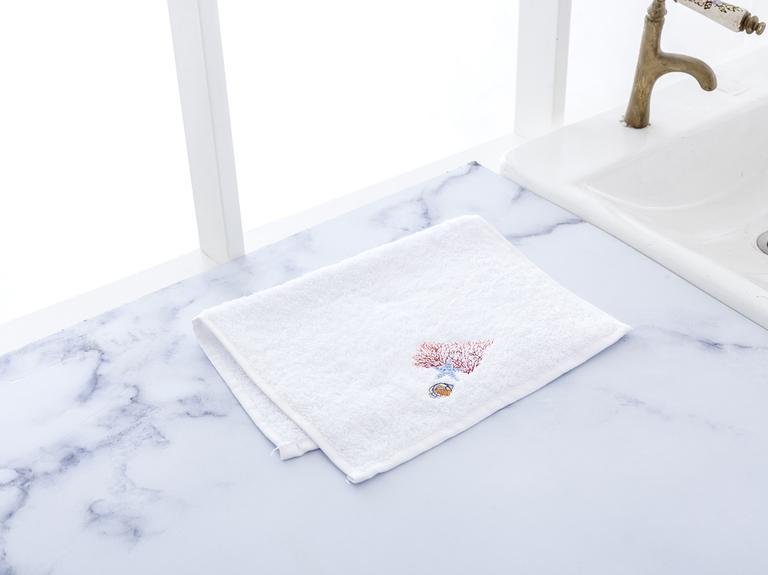 Ferida Nakışlı El Havlusu 30x45 Cm Beyaz
