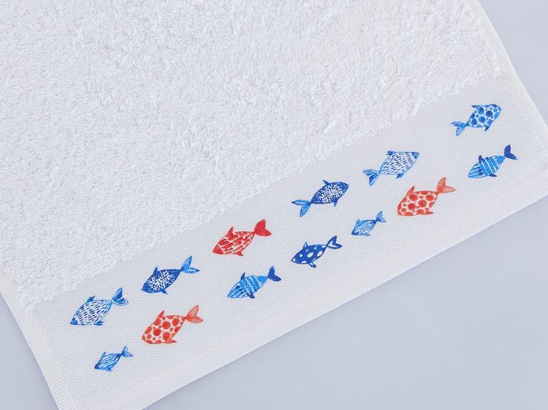 Grew Baskılı El Havlusu 30x45 Cm Beyaz