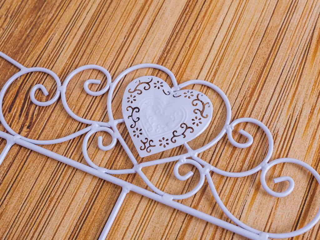 Heart Ferforje 5'li Askı 46,5x5,5x21,5 Cm Lila