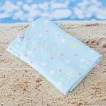Pastel Lovers Baskılı Yuvarlak Plaj Havlusu 150 Cm Açık Mavi