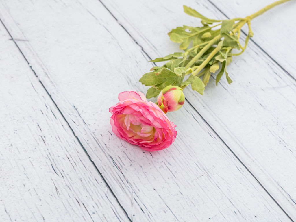Ranunculus Yapay Çiçek 41 Cm Pembe