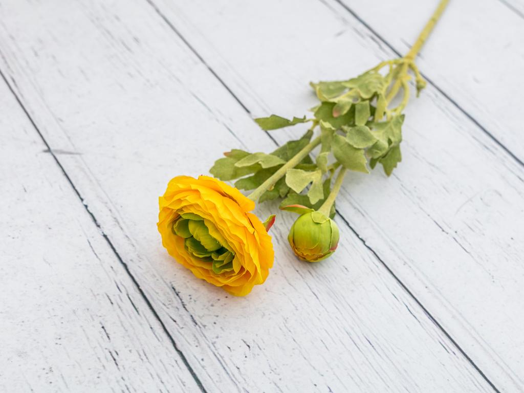 Ranunculus Yapay Çıçek 41 Cm Sarı