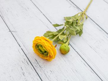Ranunculus Yapay Çiçek 41 Cm Sarı