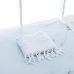 Stery Jakarlı Yüz Havlusu 50x80 Cm Beyaz