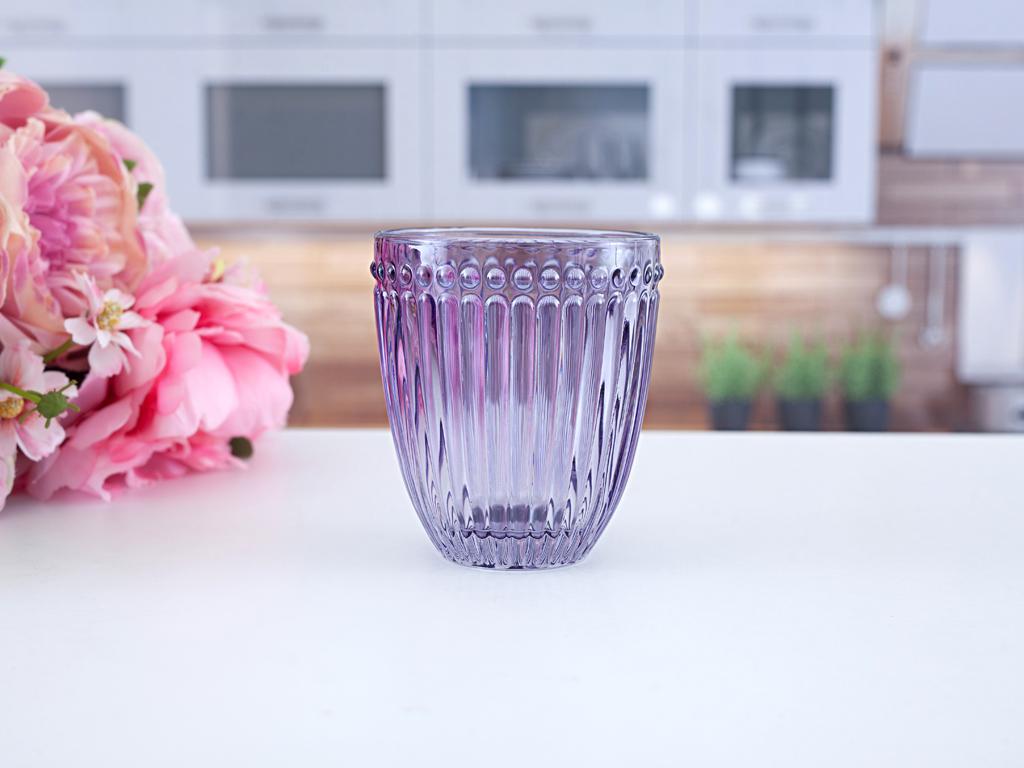 Viola Cam Meşrubat Bardağı 10,0x9,0x4,5 Cm Mor