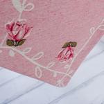 Twin Roses Goblen Runner 35x135 Cm Açık Pembe