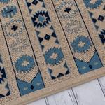 Ethnic Scroll Dokuma Kilim 80x120 Cm Beyaz - Mavi