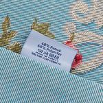Rosy Cove Goblen Kırlent 45x45 Cm Açık Mavi