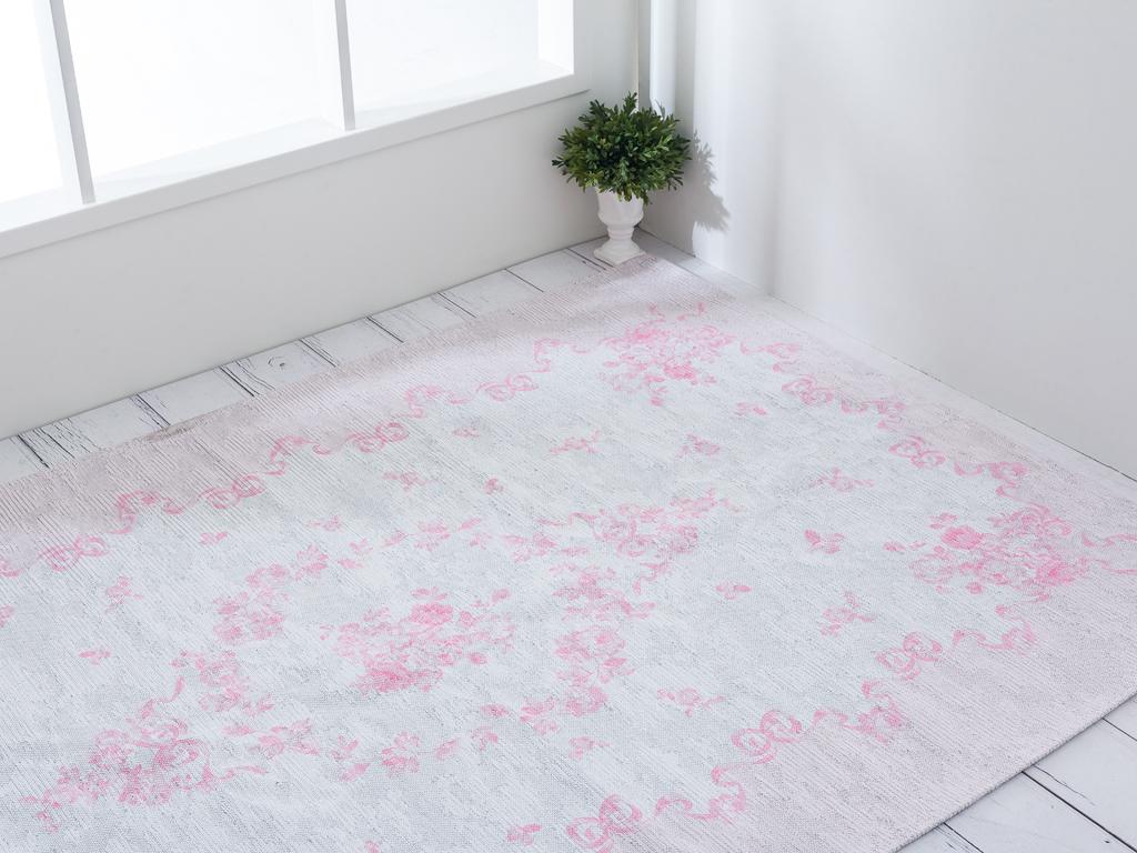 Garden Roses Baskılı Halı 120x180 Cm Pembe