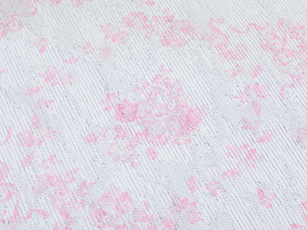 Garden Roses Baskılı Halı 80x150 Cm Pembe